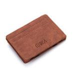 New Men Faux Leather Creative Magic Wallet Zipper Coin Bag