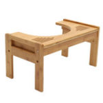 New Bamboo Non Slip Bathroom Toilet Footstool Sit And Squat Toilet Potty Ergonomic Stool