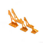 New 2 PCS Aluminum alloy Universal Triangle Rudder Rocker Arm For RC Airplane Spare Part