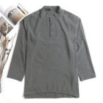 New Mens Casual Loose Solid Color Long Sleeve Cotton Tops