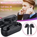 New Portable TWS Wireless Bluetooth 5.0 Earphone Heavy Bass Stereo Bilateral Calls Headphone with Charging Box