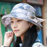 New Women Polyester Flower Bucket Hat for Holiday