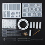 New 68Pcs DIY Geometric Resin Casting Mould Silicone Craft Making Mould Jewelry Molds Kit