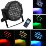 New RGB Remote Control Voice Activated 36 LED Stage Light Party Disco KTV Par Lamp AC90V-240V