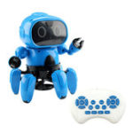 New Upgraded MoFun 6-Legged 6CH Programmable Gesture Following Avoidance Sing Dance RC Robot Toy