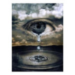 New 5D Diamond Painting Rhinestone Full Mosaic Craft Eye With Tears Cross Stitch Home Decorations