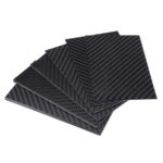 New 125x75x(0.5-5)mm Black Matte Twill Carbon Fiber Plate Sheet Board Weave Carbon Fiber Pannel Various Thickness