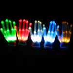 New LED Flashing Constantly Glow Light Up Finger Glove Lighting Xmas Dance Party Cosplay