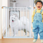 New 75*78cm Adjustable Baby Metal Safety Gates Pet Dog Child Door Stair Fence Security Barrier Gate