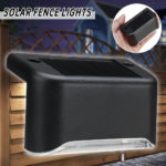 New Solar Powered LED Light Outdoor Garden Security Wall Light Fence Post Lamp