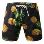 New Pineapple Printing Beach Casual Sport Drawstring Board Short