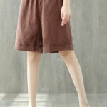 New Elastic Waist Cotton Linen Shorts