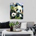 New 5D Diamond Painting Panda Painting Home Decorations Love Animal DIY Family Handwork