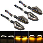 New 4Pcs 12V Motorcycle Yellow LED Turn Signal Indicator Lights For Kawasaki/Yamaha/BMW/Honda/KTM