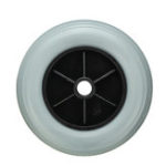 New 200x50mm Non-Marking Solid Rubber Wheel Wheelchair Castor Wheels Replacement Accessories