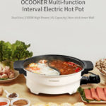 New  XIAOMI OCOOKER CR-HG03 1500W 4L Multi-function 2 Grid Electric Hot Pot Non-stick Pot Home Kitchen Cookimg Tools