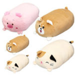 New 30/60cm Chubby Cute Soft Animal Cartoon Cushion Stuffed Plush Toy Stuffed Puppy Kitty Pillow