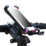 New Universal Motorcycle Bicycle Handlebar Phone Holder Adjustable Soft Protective Bracket