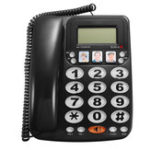 New KX-2035CID 2-line Corded Telephone with Speakerphone Speed Dial Corded Phone Incoming Call Display with Caller ID for Home Office