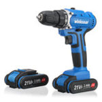 New 21V Cordless Electric Drill 3000 r/min Screwdriver Driver Drill W/ 1 or 2 Lithium Battery