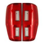 New Car LED Rear Tail Light Assembly Red for FORD RANGER RAPTOR T6/T7/PX/MK1/MK2/WILDTRAK 2012-2019