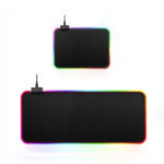 New USB Wired Large Colorful Backlit Non-slip Soft Rubber Mouse Pad Desktop Mat