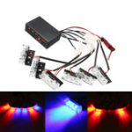 New 12V LED Red Blue Strobe Flash Lights Emergency Light Police Dash Warning Signal Lamp Car Motorcycle