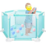 New Child Baby Children Kid Playpen Play Pen Room 18 Poles/Bars Sided With 10 Ocean Ball