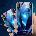 New Bakeey Illuminating Tempered Glass Protective Case For iPhone X/XS/XR/XS Max/8 Plus/7 Plus