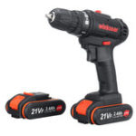 New 21V 2400mAh Electric Drill Cordless Power Screw Driver Drills W/ 1 or 2 Li-ion Battery