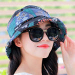 New Women Ethnic Style Sunscreen Wide Brimmed Bucket Hat