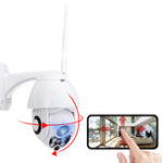 New HD 1080P WiFi Wireless CCTV PTZ IP Camera Smart Audio Home Security Night Vision Rainproof