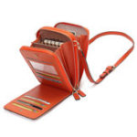 New Brenice Women Flap Solid Card-slots Phone Bag Crossbody Bag