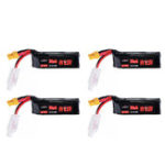 New 4Pcs URUAV 7.6V 300mAh 80C/160C 2S HV 4.35V Lipo Battery XT30 Plug for BETAFPV Whoop Quadcopter