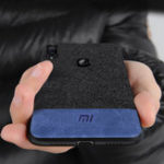 New Bakeey Luxury Fabric Splice Soft Silicone Edge Shockproof Protective Case For Xiaomi Redmi Note 7