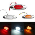 New 12V LED Car Truck Trailer Side Marker Signal Tail Light Red/Amber/White Universal