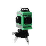 New 12 Lines 3D Laser Level Self-Leveling 360 Horizontal And Vertical Cross Super Powerful Green Laser Beam Line(Green)