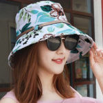 New Women Polyester Floral Bucket Hat for Holiday