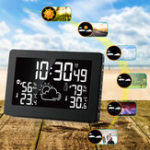 New Wireless Weather Station Temperature Humidity Sensor Colorful LCD Display Weather Forecast RCC Clock In/outdoor Digital Thermometer