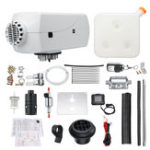 New 12V 8KW Diesel Air Heater Kit with LCD Switch Remote Control Silencer 10L Tank White