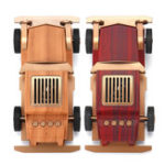 New 5W Portable USB Wireless Bluetooth Speaker Retro Car Setero Wood Super Bass FM MP3