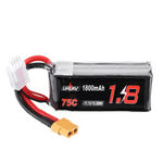New URUAV 11.1V 1800mAh 75C 3S Lipo Battery XT60 Plug for FPV RC Drone