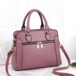 New Women Crocodile Pattern Handbag Leather Crossbody Bag