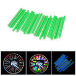 New BIKIGHT 12Pcs 75mm Bicycle Wheel Reflective Sticker Wheel Rim Reflector MTB Mountain Bike Night Warning Reflective Tube Stick