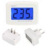 New DM55-1 AC 80-300V Voltage Meter US EU Plug Volt Meter LCD Digital Display Voltmeter Tester