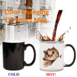 New 350ml Cat Lover Morphing Mug Heat Sensitive Color Changing Coffee Mugs Cup Gifts