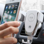 New 10W Qi Car Wireless Fast Charger Phone Holder Gravity Bracket Mount for iPhone XS Max S9
