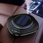 New Solar Energy LED Aromatherapy Car Air Purifier Portable Air Diffuser Smog Dust Odor Remove Cleaner for Car Office