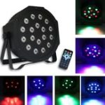 New RGB Remote Control Voice Activated 18 LED Stage Light Party Disco KTV Par Lamp AC90V-240V