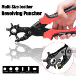 New 10 Inch Leather Revoling Hole Punch Heavy Duty 6 Size Pliers Punch Belt Holes Tool
